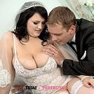 Busty bride Barbara Angel