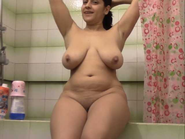 A mommy in the shower