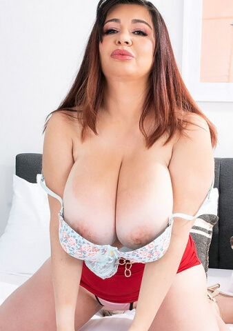 Big Boobs Latin MILF Scarlet Red